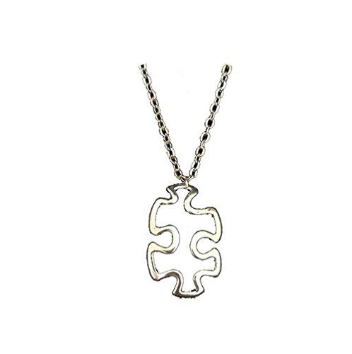 Collar con colgante de rompecabezas de plata tibetana Los mejores regalos para joyería de las mujeres