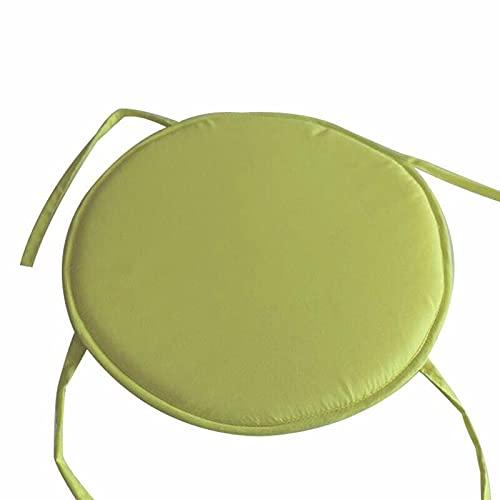 Aunye Stuhlkissen, 38cm, rund - Waschbare Chair Pads kompatibel mit Eames Schalenstuhl - gemütliches Sitzkissen für Zuhause, Büro, Garten, Terrasse, Café (Grün)