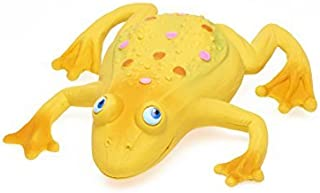 Large Squeaky Frog Dog Toys. 100% Natural Rubber (Latex). Complies to Same Safety Standards as Children's Toys. Soft & Squeaky. Best Dog Toy for Large Dog.