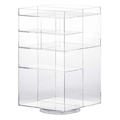 I Storage 360 boîte de Rangement cosmétique rotative, Organisateur de Maquillage Transparent Acrylique, Rangement pour Coiffeuse, Chambre