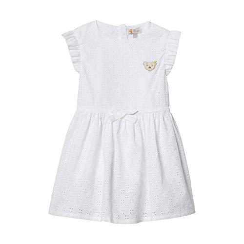 Steiff Mädchen Kleid, Weiß (Bright White 1000), 104
