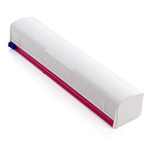 YAYIC Kunststoff-Wrap-Cutter, Lebensmittel Kunststoff Cling Wrap Dispenser Konservierungsfolie Cutter KüChenwerkzeug ZubehöR - Einfach Zu Bedienen, Einfach Ziehen, DrüCken, Schneiden Und Wickeln