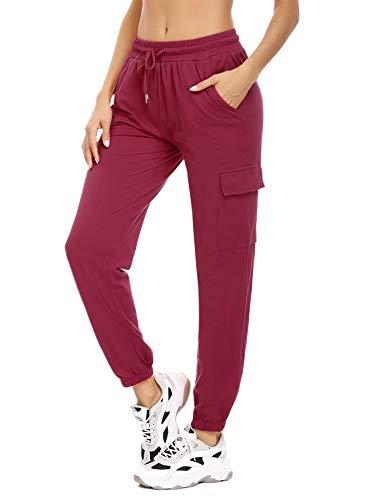 Doaraha Pantalon Jogging Femme en Coton Large avec...