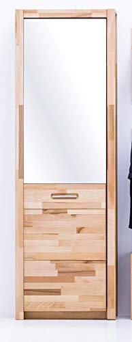 Unbekannt Garderobenschrank mit Spiegel Dielen-Schrank Flurschrank Kernbuche - (3852)