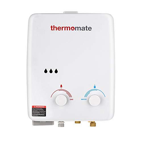 Thermomate AZ132 5L Tankless Gasdurchlauferhitzer, sofortige tragbarer Propangasdusche 10kW, Reinkupfer-Wärmetauscher, für Camping, Boot, Wohnmobil