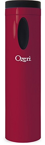 Ozeri OW08A-R Fascina Electric Wine Bottle Opener and Corkscrew, Red Engine