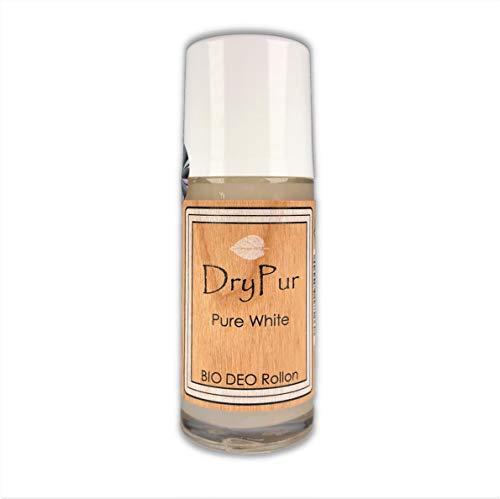 DryPur • BIO DEO Rollon • PURE WHITE • ohne Aluminium, Alkohol oder künstliche Zusätze • Naturkosmetik Deodorant im Deo Roller • vegan • ohne Parabene und Silikone