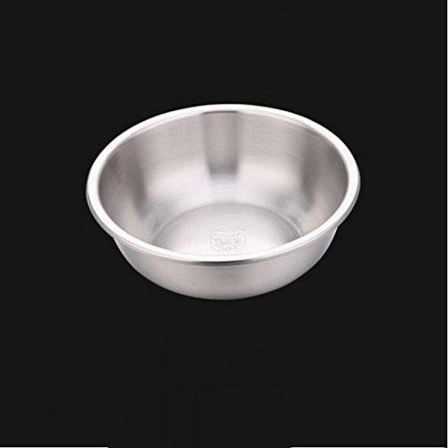 MXJ61 Bassin en Acier Inoxydable 304 Plus épais Deepen Soupe Claire Soupe au Pot Poubelle Cuite au Four Pot Laver Les légumes Pots (Taille : 22cm)