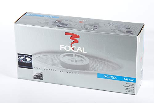 Focal Access 165CA1 Coaxial Paired Car Speaker 2-Way Alu Inverted Dome Light Woven Glass Cone w/Grilles