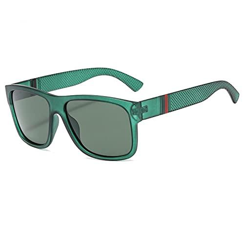 Moda Gafas De Sol Polarizadas De Lujo para Hombres, Gafas De Sol Masculinas para Conducir para Hombres, Mujeres Retro, Diseñador De Marca Uv400, Verde