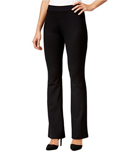 Miraclebody by Miraclesuit Women's Pull On Boot Cut Ponte Pants Sz 4 Black