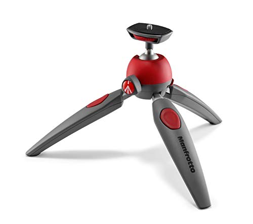 Manfrotto PIXI EVO 2-Section Mini Tripod, Red