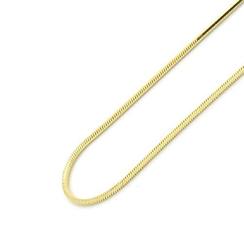 Damen Halskette 14 ct gold 585/1000 1mm Italienisch Schlange Kette (verfügbar Länge 40 CM, 45 CM, 50 CM, 55 CM, 60 CM) - 60 CM