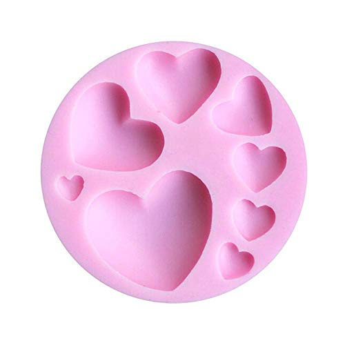 Aeromdale 3D DIY Corazón Silicona Fondant Cake Mold Sugarcraft Hornear Molde Decoración - Multi-Hearts Cake Decorating Chocolate Hornear Molde Herramientas Regalo