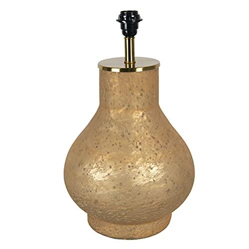 Clayre & Eef Base para lámpara de mesa (cristal, 28 x 28 x 49 cm), color dorado