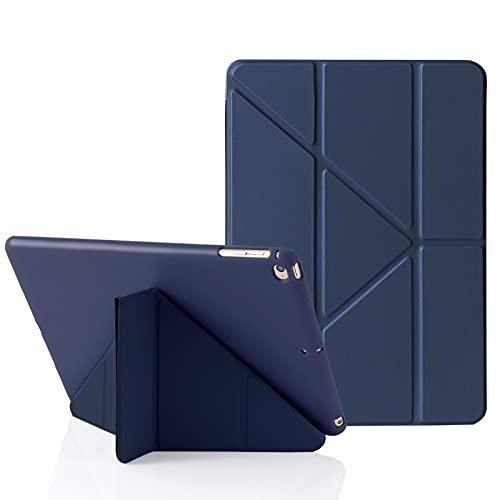 MuyDoux Funda para iPad 9.7 Pulgadas 6ª (2018) /5ª (2017) Generación, y Compatible con iPad 9.7' Air (2013) / Air 2ª (2014), 5 en 1 Múltiples Ángulos de Visión, Auto Sueño/Estela Cover (Azul Oscuro)