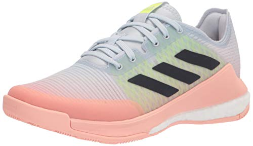 adidas Women's Crazyflight Volleyball Shoe, Halo Blue/Ink/Yellow, 10.5