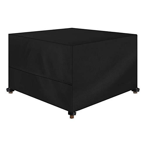 Funda para Muebles de Jardín Cubierta de muebles de jardín de cubo, cubierta de cubos de ratán a prueba de agua, a prueba de viento, anti-UV 420D Tela Oxford de Oxford Funda de jardín al aire libre co