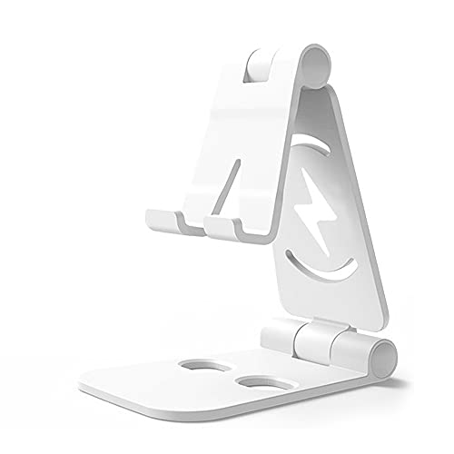 JINHU Ajustable Base De Teléfono Móvil Universal Soporte Plegable Aplicar para iPhone Samsung Huawei Xiaomi Etc. Teléfono Inteligente, White
