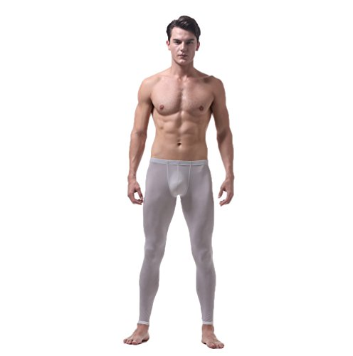 ZKOO Hombre Pantalones Ropa Interior Térmica Stretch Tight Calzoncillo Largo Leggings