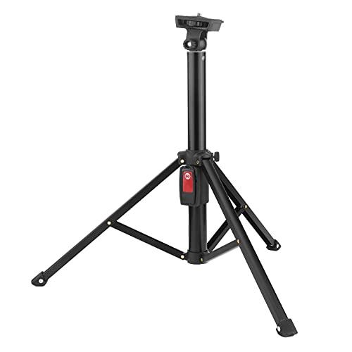 Trípode Selfie Stick, Aleación de Aluminio, 5 Secciones Telescópico, Teléfono Bluetooth Selfie Stick Trípode, Luz de Relleno/Fotografía con Flash/Soporte de Montaje de 1/4 de Pulgada, con Control