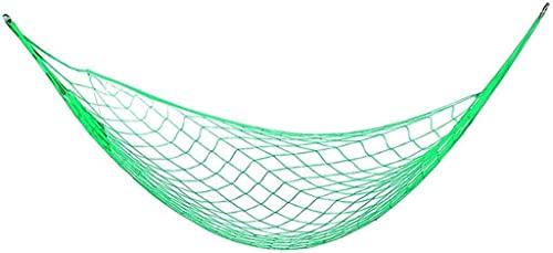LSWY Hamaca portátil Meshy Cuerda Hamacas de Dormir Cama Colgando Nylon para el jardín del jardín al Aire Libre (Color: Rojo) (Color : Green)