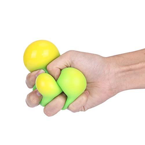 Bola de descompresión de goma suave, Eva Stretch Squeeze que cambia de color, pellizca música, para adultos descompresión sensorial decoración de fiestas, juguetes elásticos para estrés (verde)