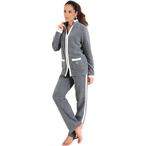 Féraud Damen 3883158 Modern Essentials Zweiteiliger Schlafanzug, Grau (Heather Dark Grey 11899), 46