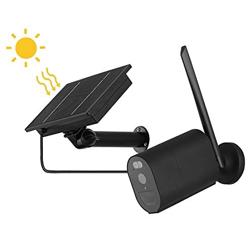 Cámara De Vigilancia Con Cámara 4GHD De Bajo Consumo De Energía Solar, Intercomunicador De Teléfono Remoto Inalámbrico Wifi, Advertencia De Visión Nocturna Por Infrarrojos A Prueba De Agua,Wifi