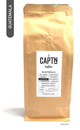 CAPTN Coffee GUATEMALA Filterkaffee ganze Bohne | 100 % Arabica Single Origin | 1 KG | Direkt Gehandelt | Schonend Trommelgeröstet | Handverpackt