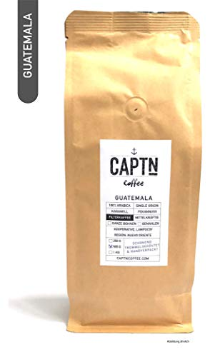 Guatemala Kaffee Ganze Bohnen | 100 % Arabica Single Origin | 500 G | Direkt Gehandelt | Schonend Trommelgeröstet | Handverpackt | Premium Qualität | Ideal als Geschenk (500 GR)