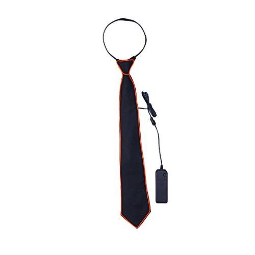 LEDMOMO LED Leuchten Krawatten Blinklicht Krawatte Kostüm Zubehör für Weihnachten Halloween Karnevalsparty (Rotes Licht)