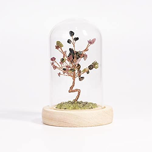 Árbol de cristal de piedras preciosas feng shui, adorno de cuarzo natural Hecho a mano Decoración de la decoración de la decoración, Reiki curativo Curación de la piedra Detalles de la piedra preciosa