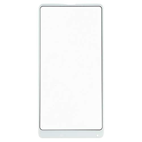 Repuesto Xiaomi Lente de Vidrio Exterior de Pantalla Delantera for Xiaomi Mi Mix 2S Repuesto Xiaomi (Color : Blanco)