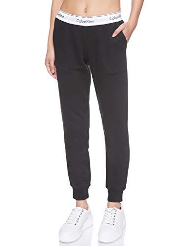 Calvin Klein Damen Bottom Pant Jogger Sporthose, Schwarz (Black 001), W(Herstellergröße: M)