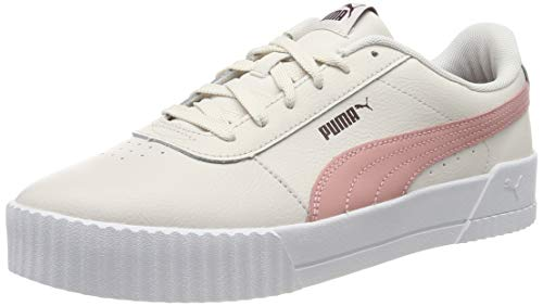PUMA Womens Carina L Trainers Low-Top Trainers,  Pastel Parchment-Bridal Rose,  3.5 UK 36 EU