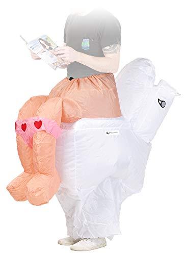 Playtastic Aufblas-Kostüme: Selbstaufblasendes Scherz- Kostüm Klo (Selbstaufblasende Party-Kostüme)