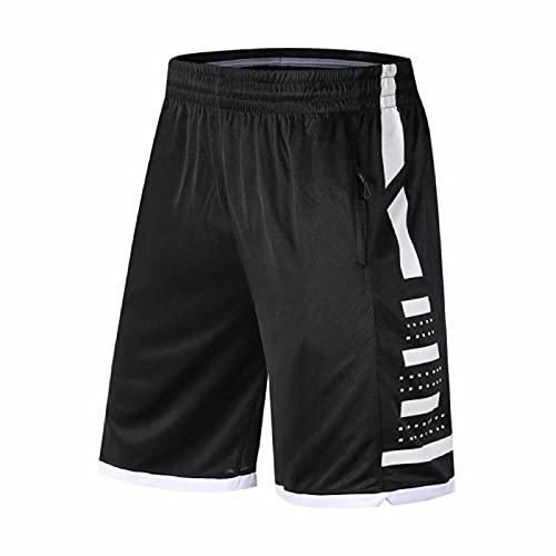 LDD Pantaloni da Basket Sport Traspiranti Sport da Corsa Pantaloncini da Corsa Sport all'aperto Pantaloni Corti Brevi Pantaloncini Beach Beach Pantaloncini Zip Pocket