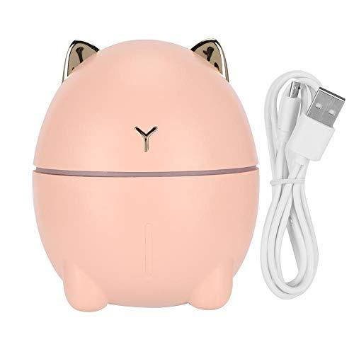 Difusor de aceites esenciales de aromaterapia, purificador de aire de niebla ultragrande, oficina doméstica Mini humidificador de purificador de aire con forma de gato lindo atomizador USB 200 ml