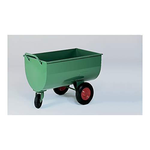Muldenwagen, 500 l - Luftgummireifen, Höhe ohne Schiebebügel 885 mm - Schubkarren