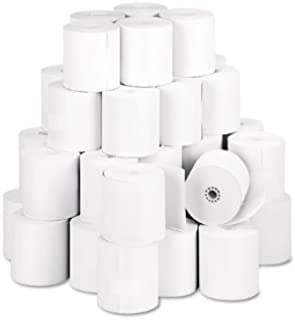 3 1/8 X 2 7/8 X 230' Light Weight Thermal POS/Cash Register Rolls 7/16