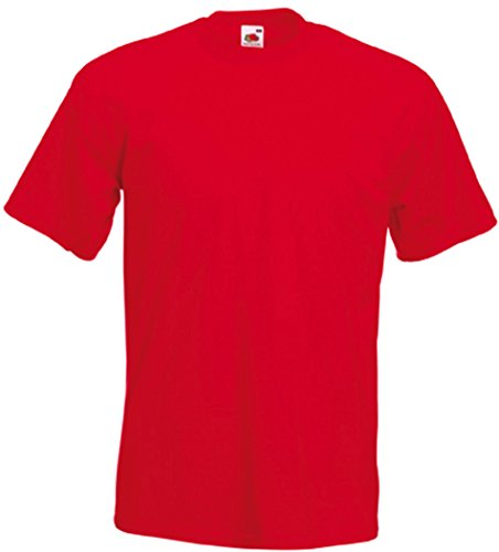 Fruit of the Loom - 61-044 - T-Shirt - Homme - Rouge (Red) - Large