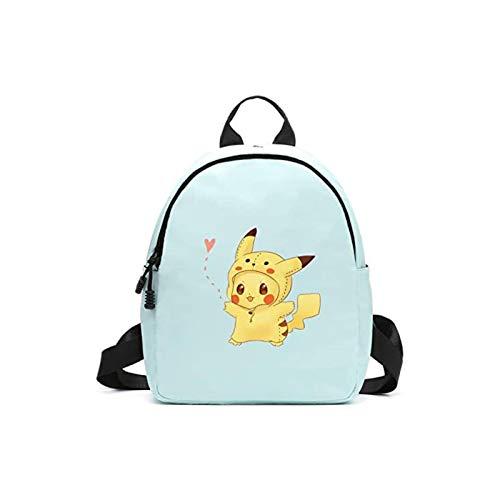 Tutui Pokemon Doble Hombro Mochila Pokemon Pokémon Lindo Pikachu Anime Periférico Escuela Bolsa Salvaje Mini Mochila Mujer