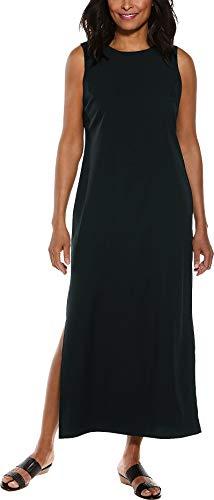 Coolibar D'Orsay Etuikleid für Damen, LSF 50+, Sonnenschutz - Schwarz - X-Groß