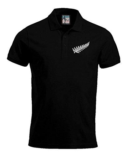 Old School Football New Zealand National Rugby Polo Größen S-XXXL Gesticktes Logo