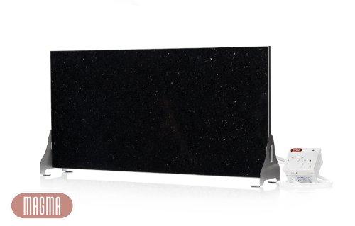 "\""Black-&-White-Aktion\"" Magma Infrarotheizung 400Watt (Black Galaxy) Stand-Variante mit Steckdosenregler"