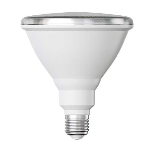 ledscom.de E27 PAR38 LED Reflektor-Lampe 16W =151W 1500lm warm-weiß A+ für innen und außen mit kurzem Hals