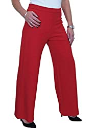 """Measurements - see UK size chart in pictures Measurements - see UK size chart in pictures Design: These are a full-length wide leg trouser with an Inside Leg of 30"""" (77cms). The high-rise design hugs your curves and portrays a slimming appearance. Th..."""