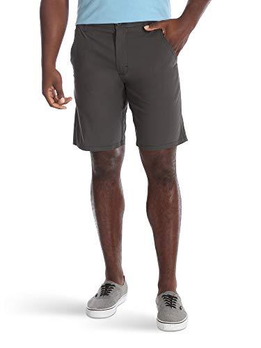 Wrangler Authentics Men's Performance Comfort Waist Flex Flat Front Short, Anthracite, 34