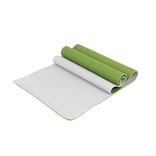 Heheja Grand Tapis De Yoga Premium Epais Et Confortable,pour Pilates/Fitness/Sport/Gym/Ecologique Et Recyclables Vert4
